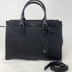 Kate spade large cameron satchel black crossbody